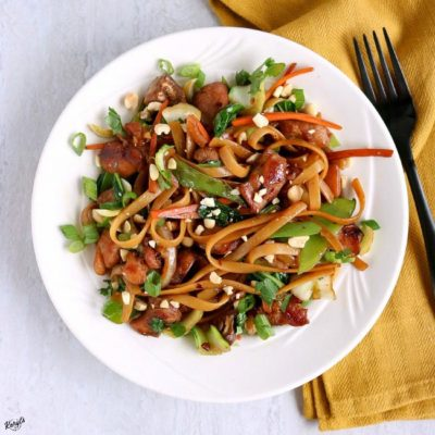 Spicy Thai Noodles Stir Fry