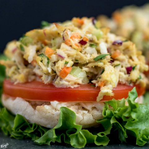 Open Faced Skinny Tuna Melt - Karyl's Kulinary Krusade