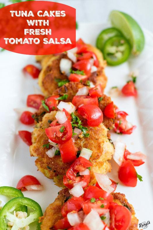 Tuna Cakes with Fresh Tomato Salsa - Karyl's Kulinary Krusade