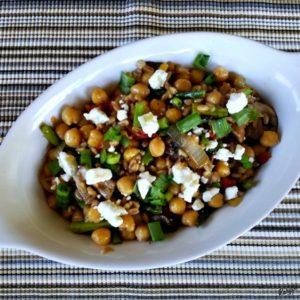 Farro Salad with Asparagus & Feta - Karyl's Kulinary Krusade
