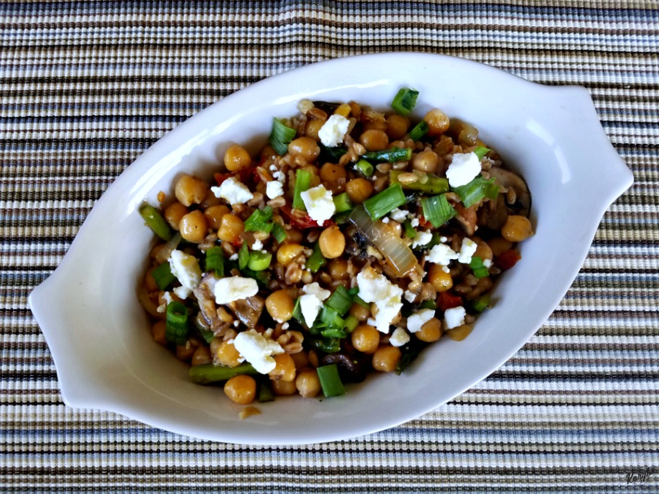 Farro Salad with Asparagus and Feta by Karyl's Kulinary ...