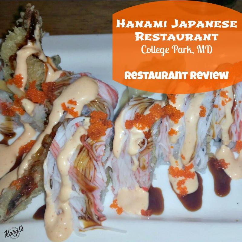 Hanami Japanese Restaurant, College Park MD - Karyl's Kulinary Krusade