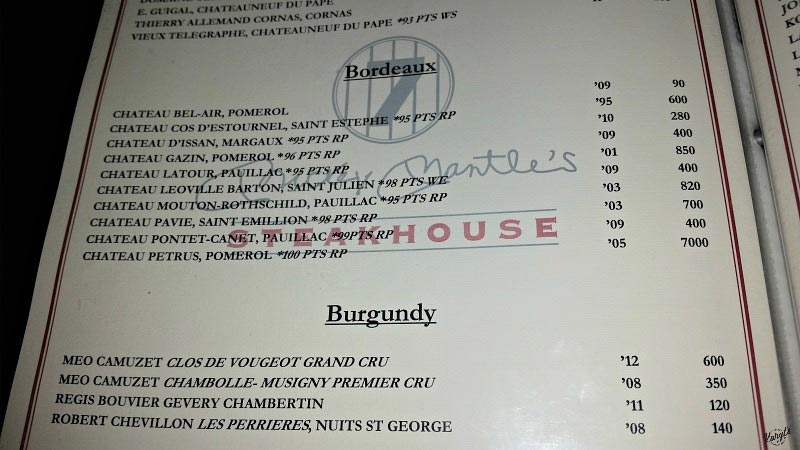 Mickey Mantle's Steakhouse, OKC - Karyl's Kulinary Krusade