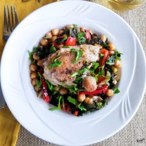 Bay Leaf Braised Chicken with Chickpeas