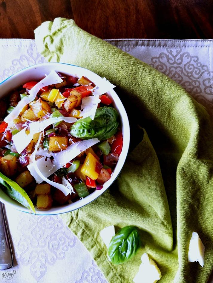 Potato Hash with Bell Peppers & Onions - Karyl's Kulinary Krusade