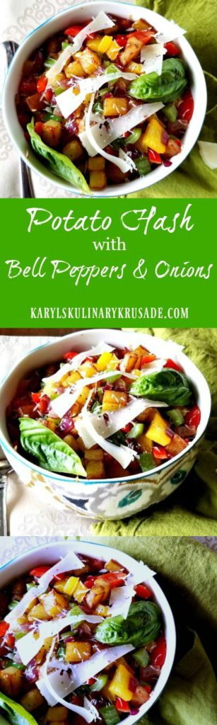 Potato Hash with Bell Peppers & Onions - Karyl's Kulinary Krusade