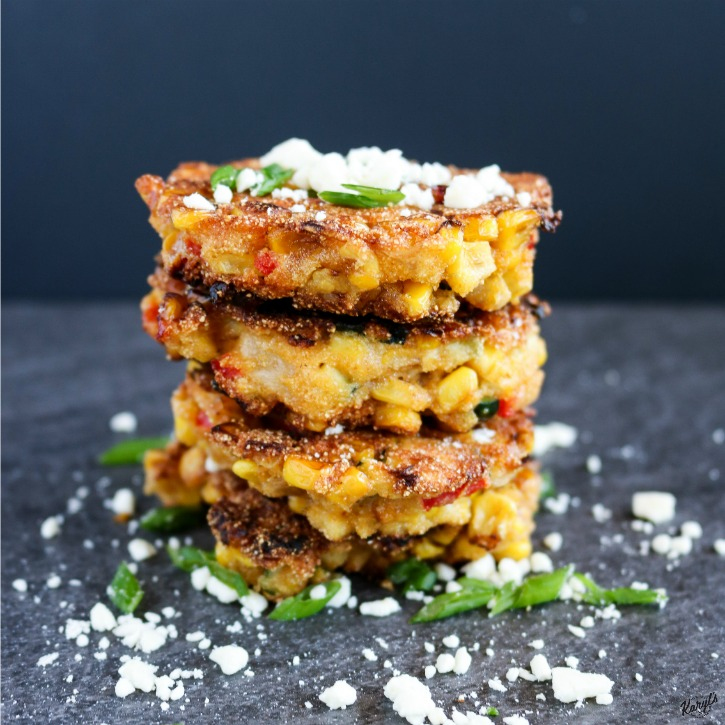 Corn, Zucchini and Red Pepper Cakes