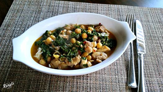 Green Chickpea Chicken Coconut Curry - Karyl's Kulinary Krusade