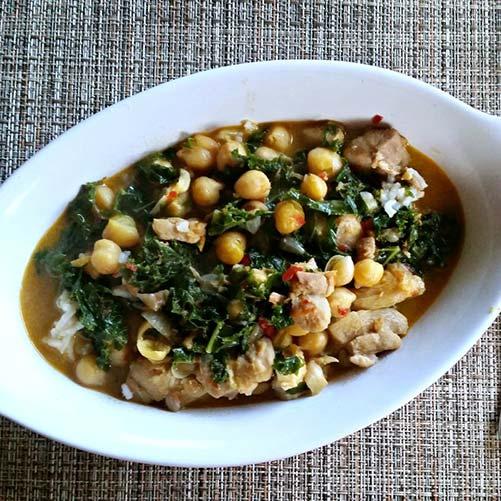 Green Chickpea Chicken Coconut Curry - Karyl's Kulinary Krusade