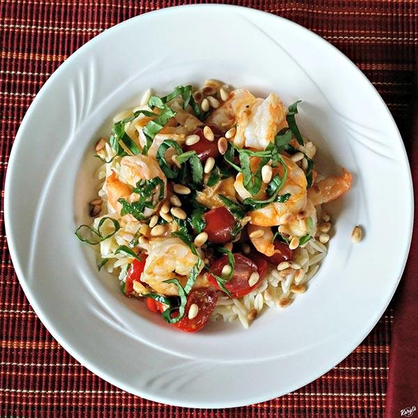 Garlic Shrimp with Basil & Tomatoes - Karyl's Kulinary Krusade