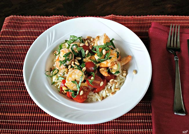 Garlic Shrimp with Basil & Tomatoes - Karyl's Kulinary Krusade