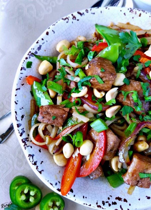 Hoisin Pork and Rice Noodle Stir Fry - Karyl's Kulinary Krusade