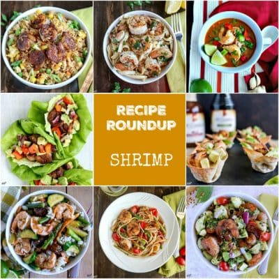 photo collage of shrimp recipes