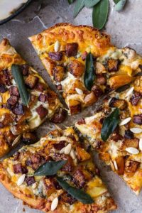 Butternut Squash Pizza with Cider Caramelized Onions & Bacon by Half Baked Harvest