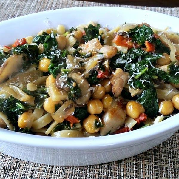 Kale with Chicken & Chickpeas - Karyl's Kulinary Krusade