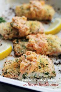 Panko-Crusted-Salmon-with-Tuscan-Tomato-Sauce