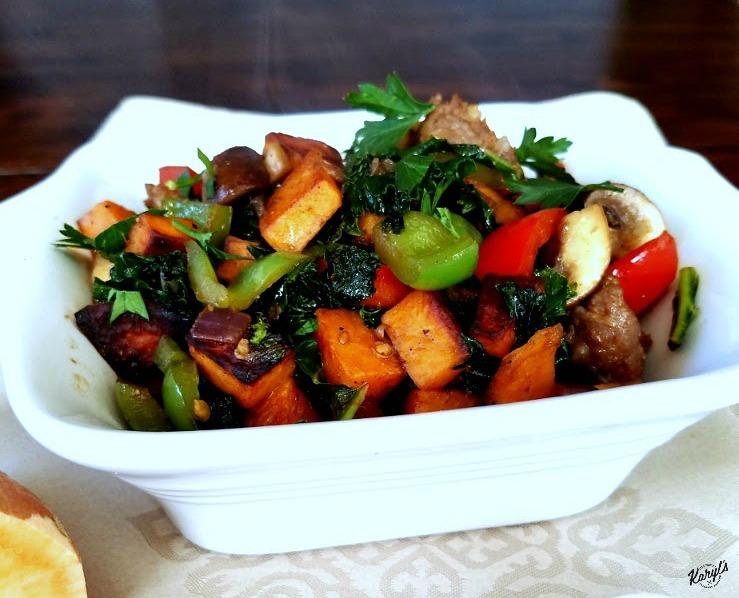 Sausage, Sweet Potato and Vegetable Hash - Karyl's Kulinary Krusade