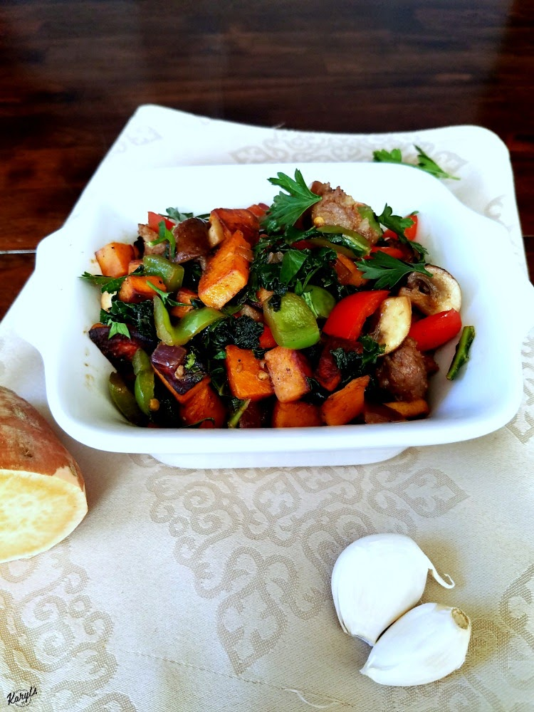 Sausage, Sweet Potato and Vegetable Hash - Karyl's Kulinary Krusade