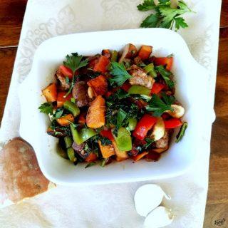 Sausage, Sweet Potato and Vegetable Hash