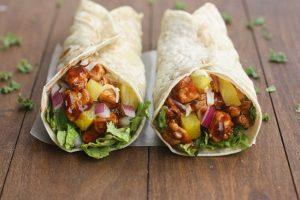 Hawaiian-BBQ-Chicken-Wraps