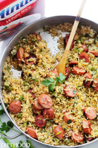 One-Skillet Sausage & Rice by Diethood