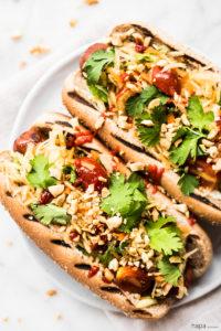 Thai Style Hot Dogs by Hapa Nom Nom