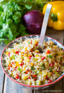 Caribbean Confetti Rice by A Spicy Perspective