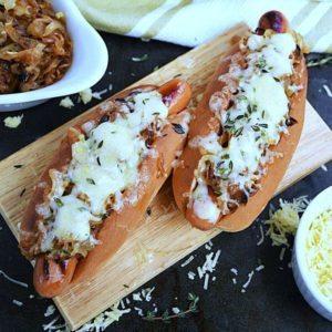 French Onion Hot Dogs by Life Tastes Good