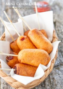 Mini Corn Dogs by Jo Cooks