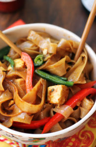 Drunken Noodles with Tofu & Peppers by Eats Well with Others