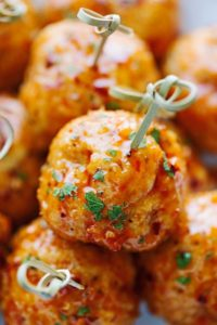 Firecracker Chicken Meatballs by Little Spice Jar