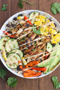BBQ Ranch Grilled Chicken and Veggie Bowl by Tastes Better From Scratch