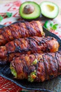 Bacon Wrapped Guacamole Stuffed Chicken by Closet Cooking