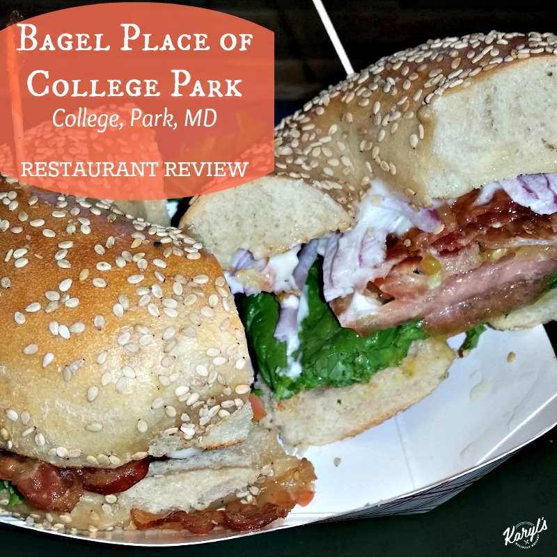 Bagel Place of College Park, College Park MD - Karyl's Kulinary Krusade