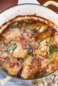 Creamy Sun-Dried Tomato Chicken by My Natural Family