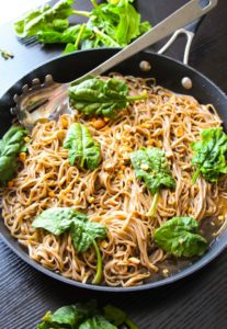 20-Minute Sticky Basil Thai Noodles by Layers of Happiness