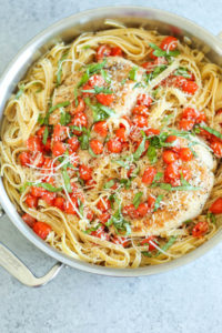 Tomato Basil Chicken Fettucini by Damn Delicious