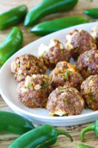 Jalapeno Popper Meatballs by The Stay At Home Chef