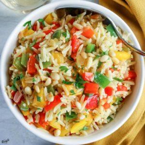 Orzo with Onions, Garlic and Peppers - Karyl's Kulinary Krusade