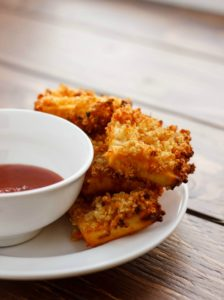 Quinoa Crusted Tofu Nuggets by The Cookie Writer