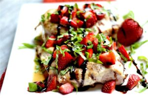Strawberry Basil Chicken by Wholesomelicious