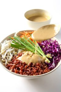 Thai Style Buddha Bowl with Peanut Sauce by Leelalicious