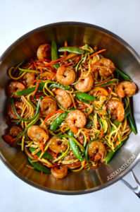 Asian Zucchini Noodle Stir Fry by Just a Taste