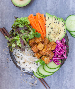 Banh Mi Bowl with Sticky Tofu by Choosing Chia