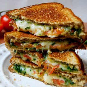 Basil Mozzarella Grilled Cheese by Kitchen Bowl