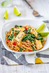 Buckwheat Soba Noodles with Coconut Lime Tofu by Chef de Home