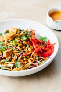 Tofu & Broccoli Salad with Peanut Butter Dressing by Kitchn
