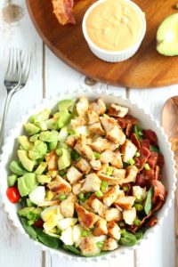 Chicken Cobb Salad with Buffalo Ranch by Paleo Running Momma