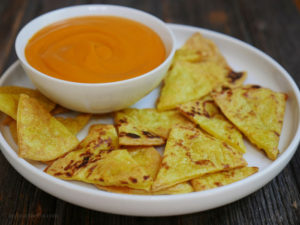 Paleo Tortilla Chips by My Heart Beets
