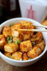 Honey Sriracha Tofu by Pickled Plum